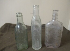 VINTAGE GLASS BOTTLES -3