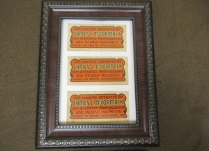 FRAMED JAMES C. MCCORMACK MACHINE STICKERS -4