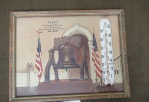 VINTAGE PESA'S WALL PAPER & PAINT CO. THERMOMETER -4