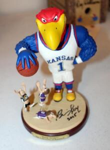 "Jayhawk 8.5"" Figurine Entitled ""Keep Away"", Limited Edition Signed And Numbered, Autographed By Bill Self In 2005"