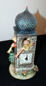 "M. J. Goebel Hummel Ceramic Clock ""Call To Worship"" Marked GES197, 13"" Tall"