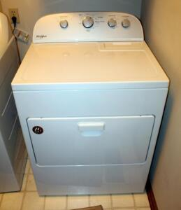 Whirlpool AccuDry Electric Dryer Model, WED5000DW2, Bidder Responsible For Proper Removal