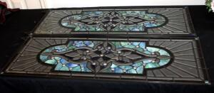 "Faux Stained And Beveled Glass Panes, Qty 2, 36.25"" x 13.75"" x .25"""