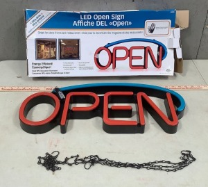 Open Sign (missing power cord)