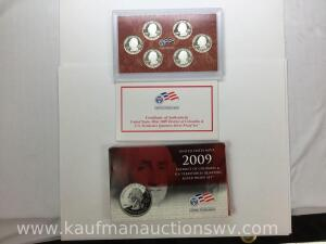 2009 United States Mint District of Columbia and U.S. territories quarter Silver proof set