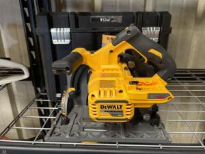 DeWalt 60v 6 1/2in Track Saw, tool only, DCS520, includes tool box, inv #to21