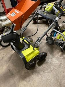 Ryobi 40v Snow Blower, tool only, includes charger