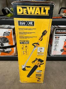 DeWalt 20v Brushless Folding String Trimmer and Axial Blower Kit, includes battery and Charger, inv #c5474