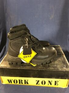 WORK ZONE N677 BLACK SIZE 4 MID BOOTS