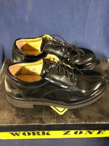 WORK ZONE N403 BLACK SIZE 4 DRESS SHOE
