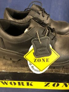 WORK ZONE N423 BLACK SIZE 4 WORK SHOES