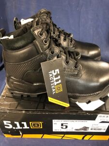 "5.11 ATAC 6"" SHIELD SIDE ZIP SIZE 5 BLACK MID BOOTS"