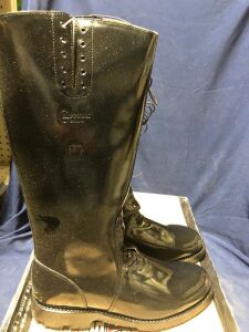 CHIPPEWA MENS 17 IN BLACK POLISHABLE TROOPER SIZE 11EE BOOTS