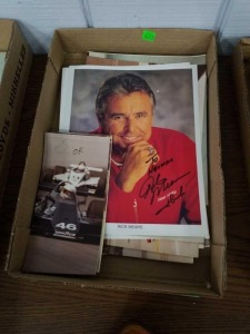 Flat of vintage Indy 500 Photographs Rick Mears