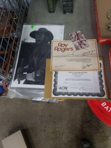 Roy Roger's Autographed Picture and Picture of