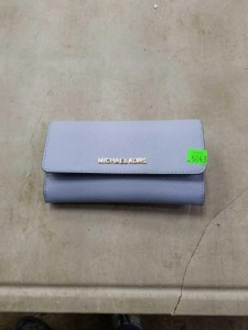 Blue Michael Kors Wallet