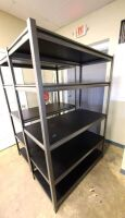 BLACK STORAGE RACK WITH 4 SHELVES