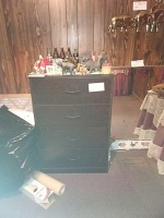 4-Drawer Dark Wood Dresser (contents on top not included) - 2
