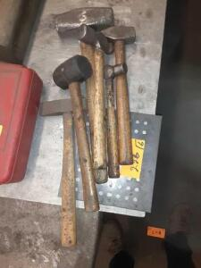 (6) Hammers Ranging In Various Shapes And Sizes