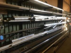 Lot of aluminum, metal and steel pipes, channels, angles, etc. 4'-20'