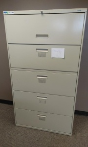 Metal 5-Drawer Lateral Filing Cabinet