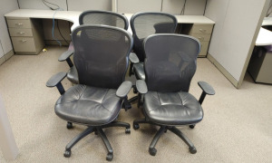 (4) Rolling Office Chairs