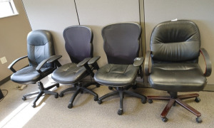 (4) Miscellaneous Rolling Office Chairs