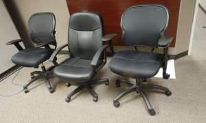 (3) Miscellaneous Rolling Office Chairs
