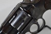 COLT Model 1892. CAL. .38 Double Action Revolver. Blued frame, cylinder & 3 inch barrel. Composite grips with checkering. dates 1907. Serial # 277656 - 27