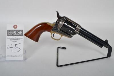 A. UBERTI 1873 S.A. Cattleman Revolver, CAL. .45 COLT, 5 1/2 inch barrel, case hardened and brass frame, in original box w/ documents. Serial# J98422