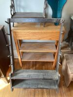 Gun rack and three shelves - larger of the shelves measures 24 x 8 x 30