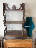 Gun rack and three shelves - larger of the shelves measures 24 x 8 x 30 - 2