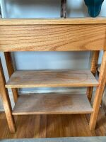 Gun rack and three shelves - larger of the shelves measures 24 x 8 x 30 - 3