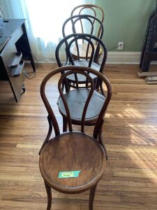 4 bentwood chairs in various conditions