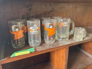 A & W glasses and mugs