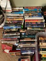 DVDs, VHSs (several Disney) and playing cards - 2