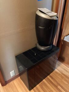 Humidifier and a Filtropur portable room air cleaner