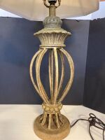 ORNATE STYLE TABLE LAMP WITH SHADE - 2