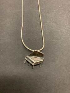 .925 PIANO CHARM AND NECKLACE