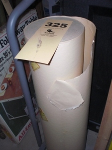 Roll of heavy bond paper
