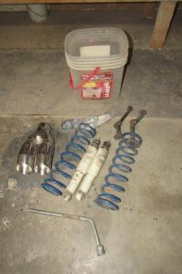 Coil over shocks, chrome exhaust extension
