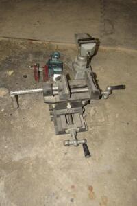 "Globemaster 3"" clamp-on bench vice, 4"" drill press double vice"