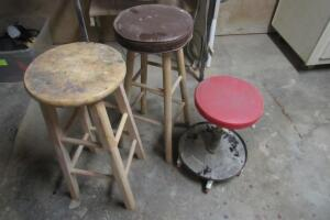 "Pair of bar stools, up to 30"" T."
