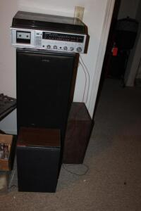 Panasonic Stereo Music System, AM/FM, cassette, turntable, etc.