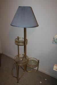 Tiered floor lamp
