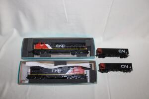 CN locomotives # 2521 & #2507, HO scale