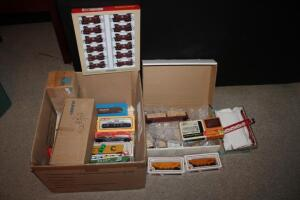 HO scale train cars, various brands