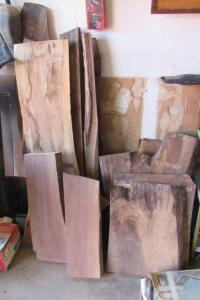 Scrap lumber including small trim pieces