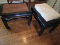 2 oriental style end tables/stools -LR