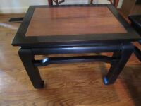 2 oriental style end tables/stools -LR - 2